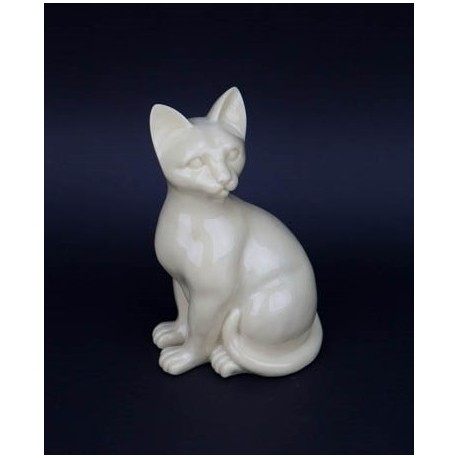 Regal Feline Figurine Urn