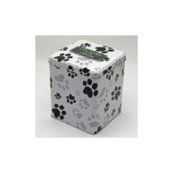 Scatter Tin with Paw Print Pattern