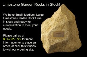 Limestone Rock Urn in Stock