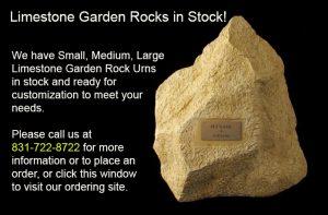 Limestone Rock Urn in Stock